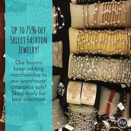 We are so excited to see the awesome selection of fashion jewelry our buyers are adding to our ongoing warehouse clearance sale!! We invite you to stop in our Mountain Brook store to see for yourself! #warehousesale #fashionjewelry #brombergsjewelry #sale