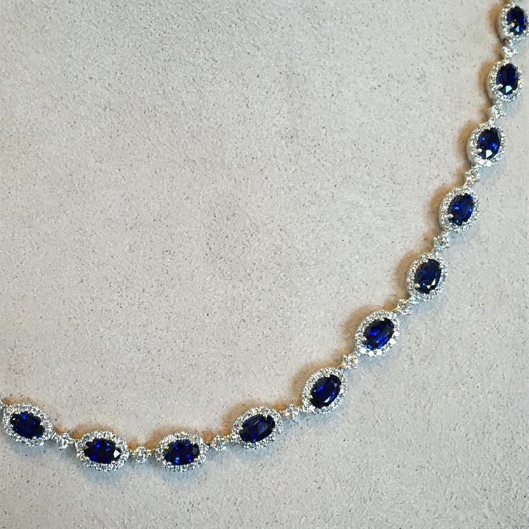 "Coco Chanel once said ""Luxury must be comfortable, otherwise it is not luxury."" On that note we encourage you to come check out how comfortable this sapphire and diamond necklace feels. 🔹🔹🔹It would be really easy to get used to wearing this luxurious piece! #luxury #sapphireanddiamonds #sapphirenecklace #gorgeous #brombergsjewelry #somethingblue #happysaturday"