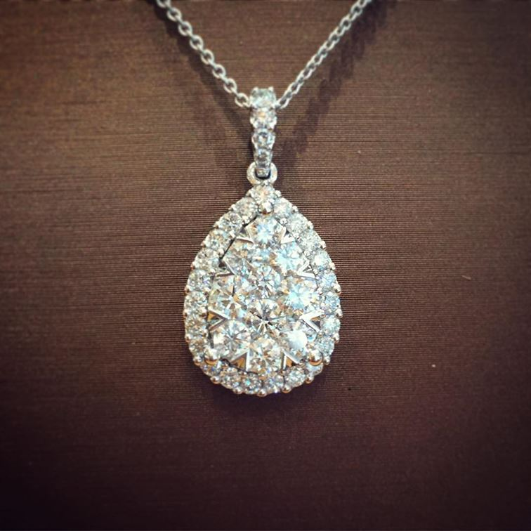 We hope your weekend sparkles! #sparkle #shine #weekend #brombergsjewelry #love #diamondpendant